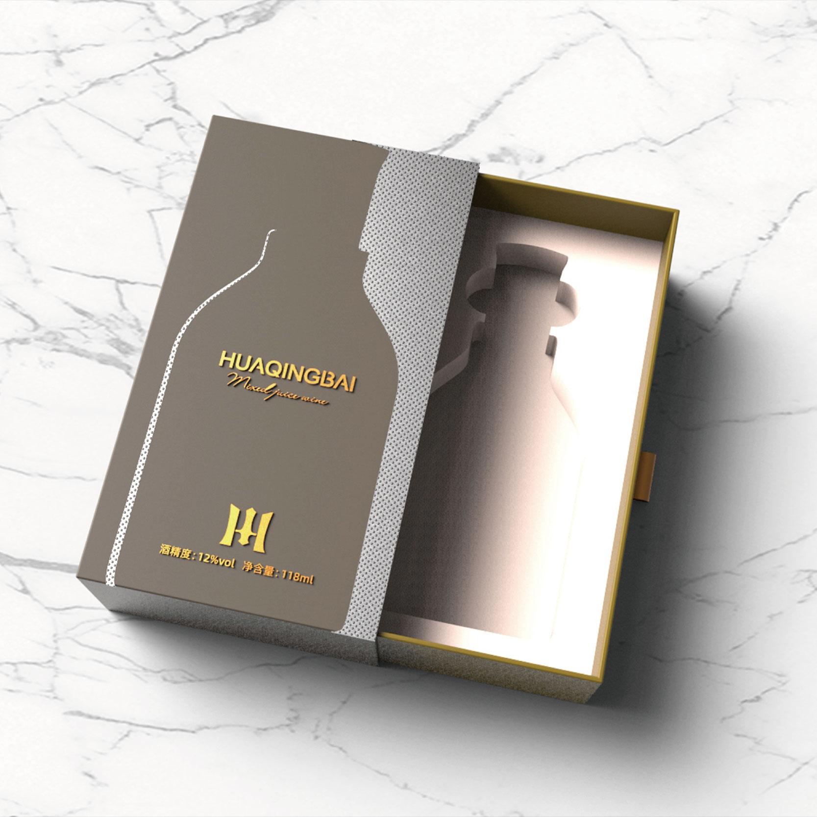 华清白酒包装设计