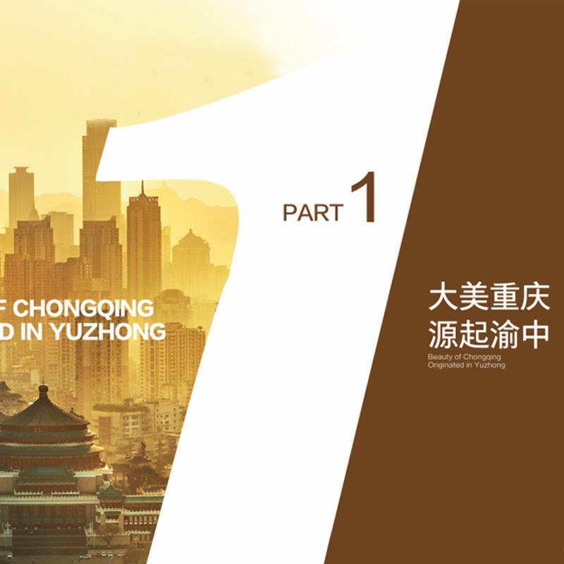 重慶市渝中區投資指南畫冊設計