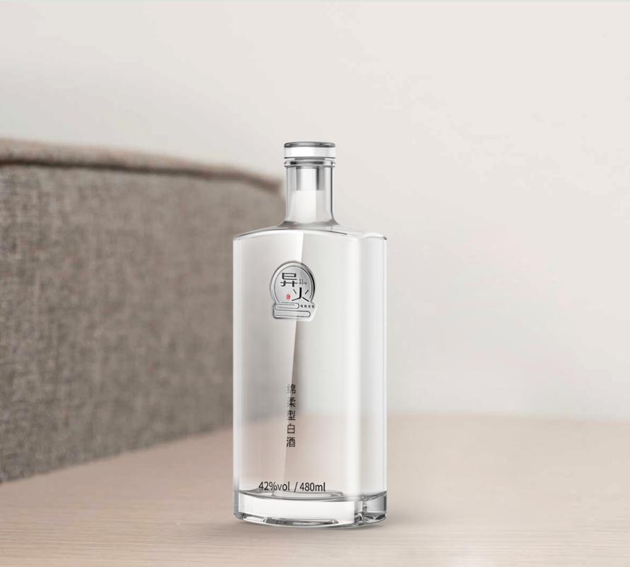 异火帝炎白酒瓶型设计