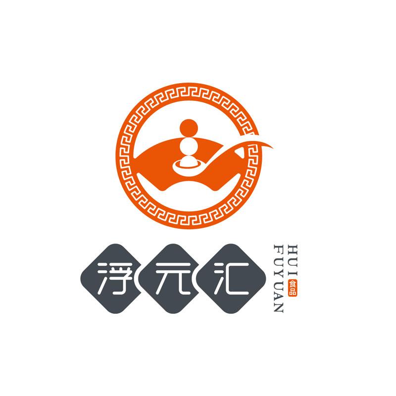 浮元汇餐饮商标形象设计
