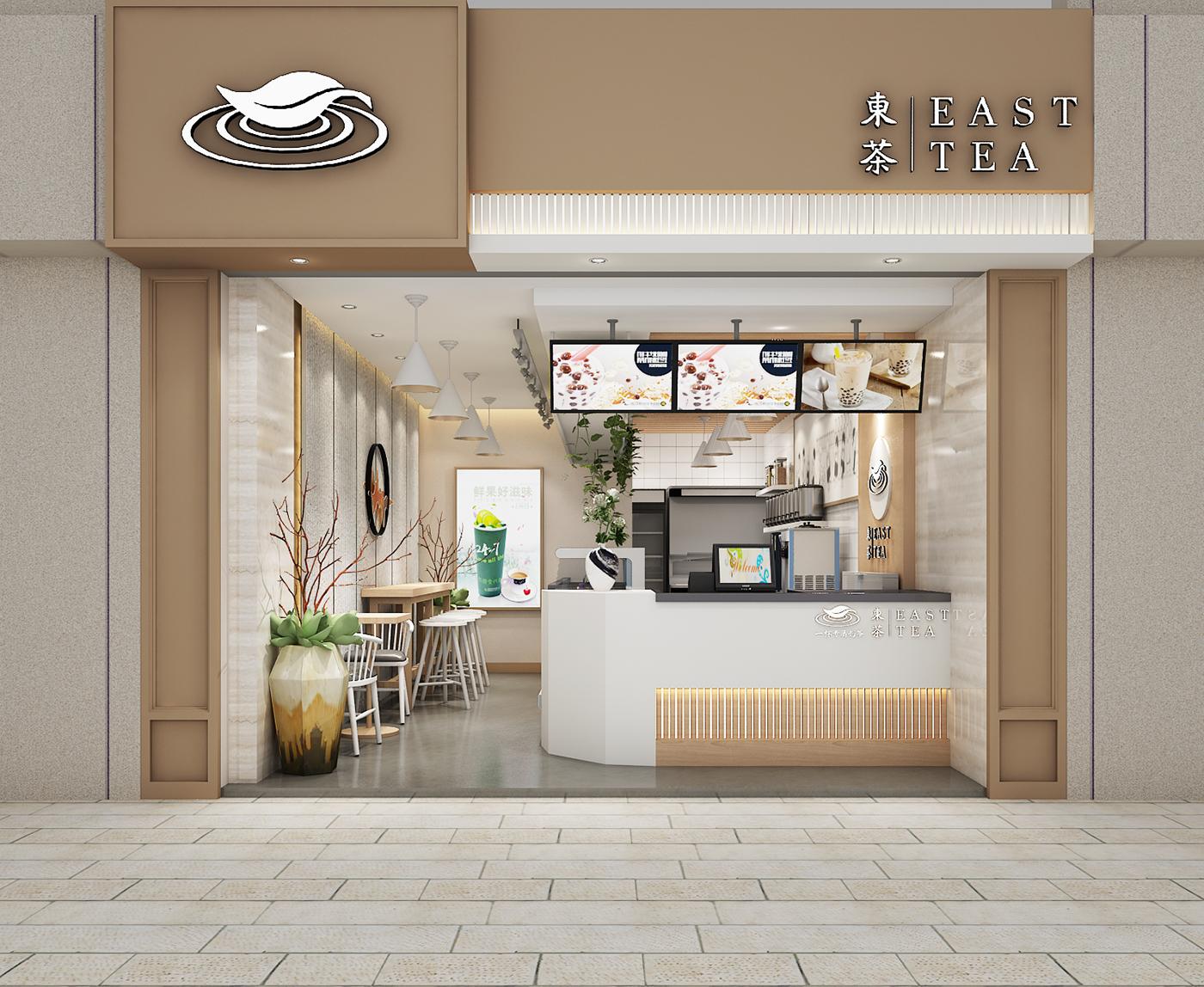 东茶零售店空间设计
