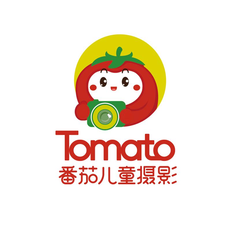 番茄兒童攝影logo設計