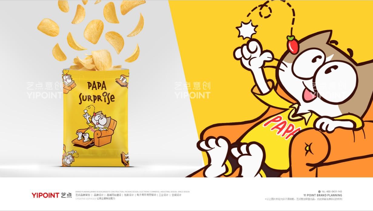 果啪啪食品IP形象設計