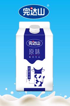 完达山酸奶饮品包装